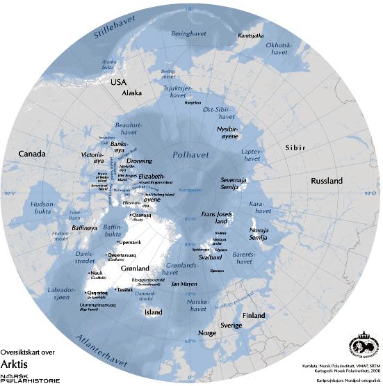 kart nordområdene Hvem eier Polhavet? – Framsenteret kart nordområdene