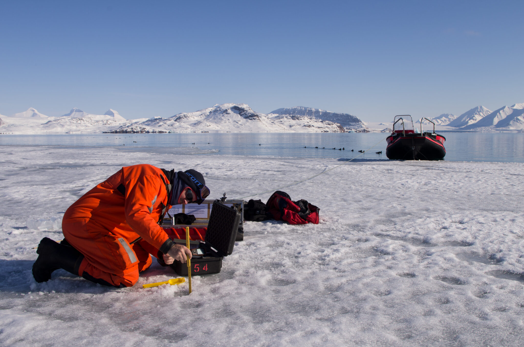 Kongsfjorden Sea Ice Development Observed From Ground Air And