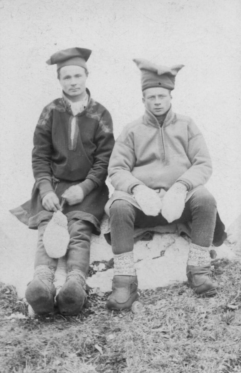 De to samene fra Sydvaranger som var med Borchgrevink i Antarktis.