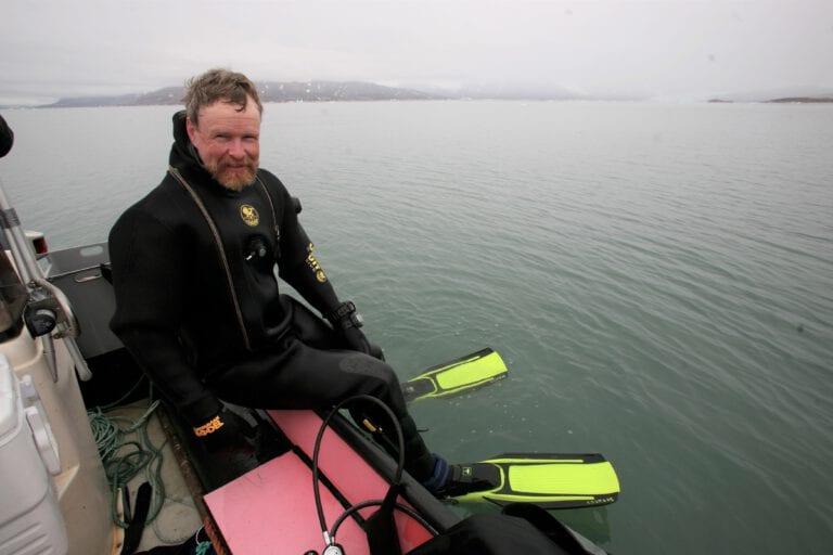 Håkon Hop, klar til dykking
