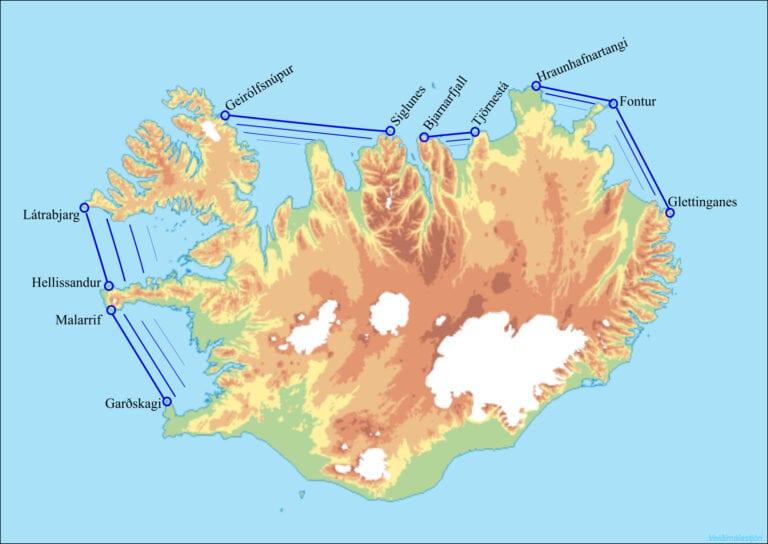 Map2 Friðunarsvæði í sjó vegna eldi laxfiska Reglugerð 460_2004