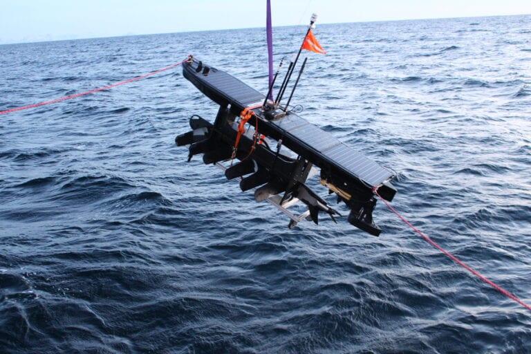 Wave glider utsett WIDE Photo Akvaplan-niva